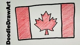 Drawing Idea: How To Draw a Canadian Flag - Step by Step - Easy!!