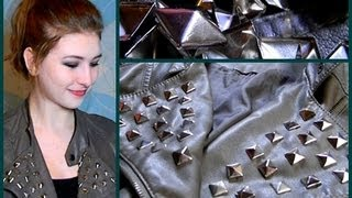 DIY Studded Leather Jacket & Studding Ideas