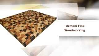 End Grain Brickwork Butcher Block Countertop By Armani Fine Woodworking