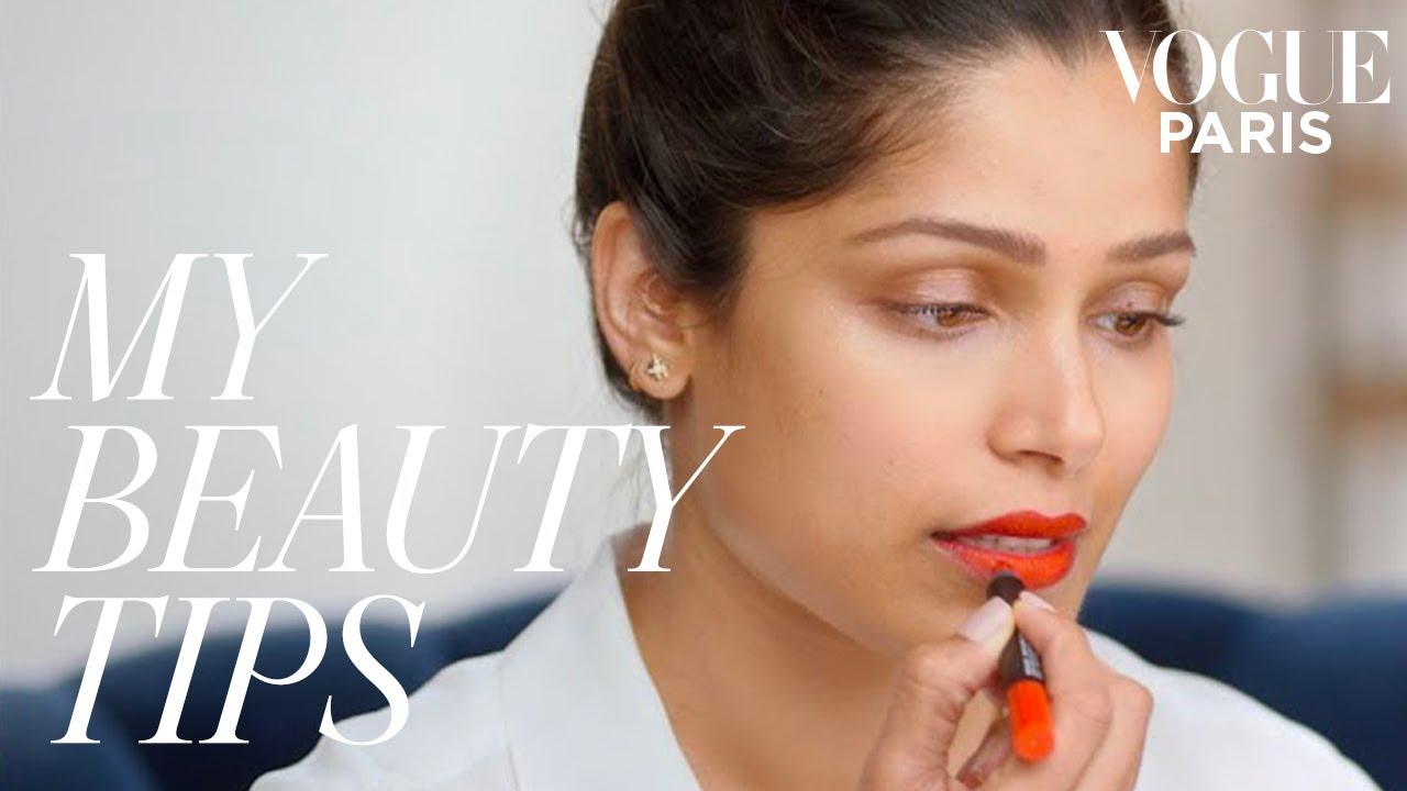 Download Freida Pinto's red carpet makeup   My Beauty Tips   Vogue Paris