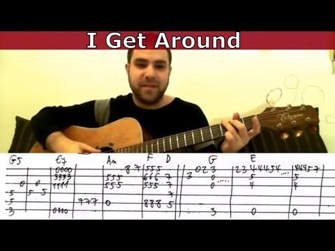 Fingerstyle Tutorial: I Get Around - Guitar Lesson w/ TAB