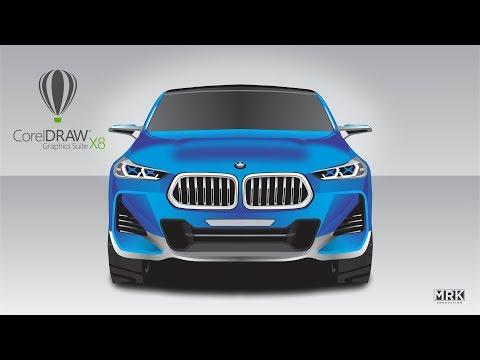 Speed Drawing Realistic BMW Car