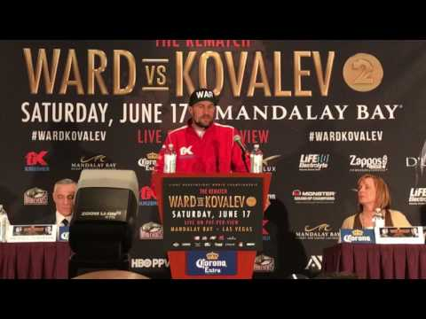Sergey Kovalev storms off at Final Presser! Tells Andre Ward he better be prepared