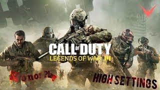 Call of Duty Legends Of War|Honor play|Gameplay|High Settings|