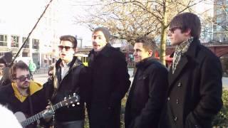 Big Time Rush flash concert in Berlin - Boyfriend (part 1)