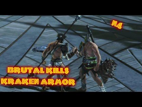 God of War:Ascension Kraken armor Brutal Kills - YouTube