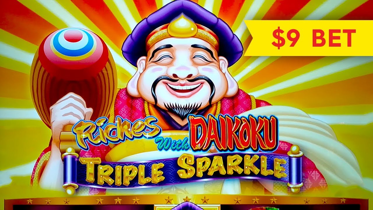 Download MAJOR PROGRESSIVE! Riches With Daikoku Triple Sparkle Slot - NICE SESSION, ALL FEATURES!