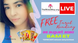 29 August 2020 - 8AM ET - FREE LIVE TAROT READING with RJ Marmol