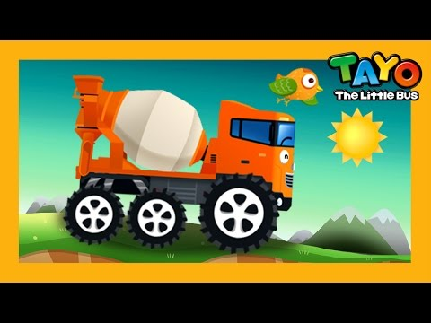 Chris the Truck Mixer l Repair Game #3 l Learn Street Vehicles l Tayo the Little Bus