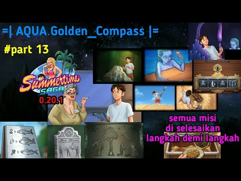 summertime saga 0.20.1 aqua,golden compass all missions are completed step by step    part 13-Aqua G