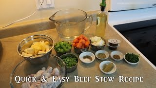 Quick and Easy Beef Stew Recipe
