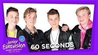 60 SECONDS WITH FOURCE FROM THE NETHERLANDS 🇳🇱  - JUNIOR EUROVISION 2017