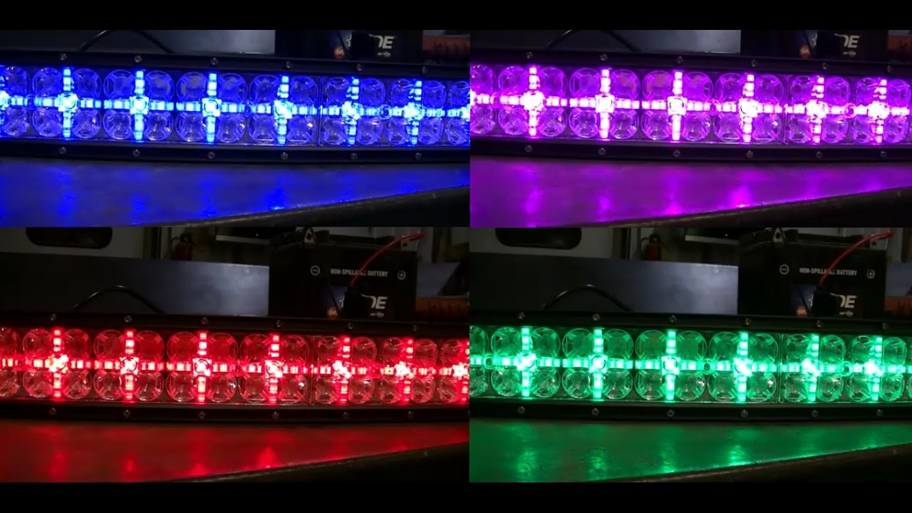 Auxbeam Cross 2 Series Led Light Bar Color Changing Bluetooth Wireless Control