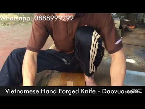 Process of Hand Forged knife making in VietNam