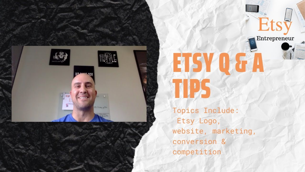 EE: 17 Etsy Q & A:  Shop logo, Marketing, Website Options, Competition, & Conversion