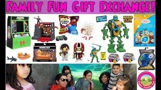 Family Fun Gift Exchange! Ryan's World~Imaginext~Roblox~Ninja Turtles~Screechers Wild + More!
