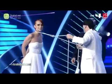 Sos & Victoria Special Guests at Arabs Got Talent - INTERNATIONAL Quick Change Magicians عرض