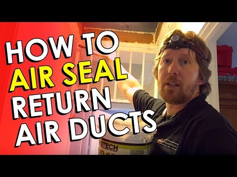 How to Air Seal Return Air Duct - DIY Duct Sealing | HVAC Duct Sealing DIY | Air Duct Sealing DIY