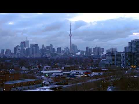 Toronto Skyline Canada - Copyright Free Stock Footage Video Clip