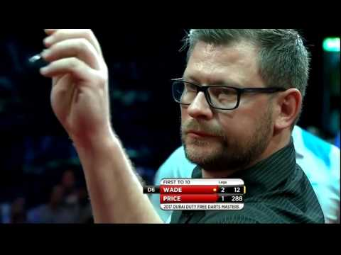 James Wade 9 Darter Attempt with DOUBLE TROUBLE - 2017 PDC Dubai Masters