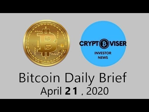 Bitcoin Daily & Bitcoin Stock Market Correlation - April 21, 2020