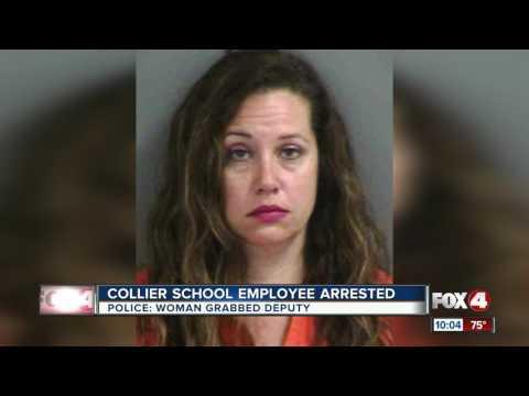 Collier school employee arrested