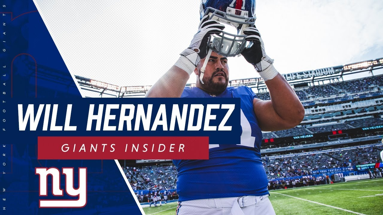 hot sale online 918a1 4bbea Will Hernandez discusses the start of the Giants offseason program