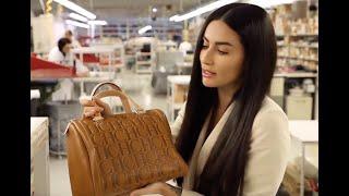 Diala Makki's visit to Carolina Herrera Leather Atelier continued