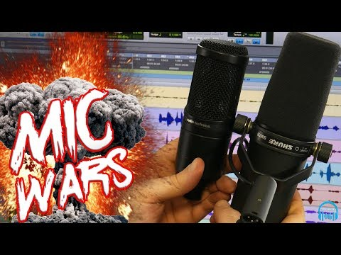 MIC WARS | Audio-Technica AT2020 vs. SHURE SM7B