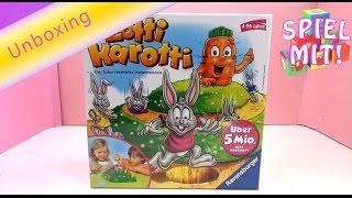 Lotti Karotti Spiel unboxing - Kinderspiel Ravensburger 21556 Unboxing / Aufbau