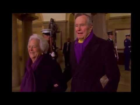 Barbara Bush, the snowy-haired first lady whose plainspoken manner and utter lack of pretense made her more popular at times than her husband, President George H.W. Bush, died Tuesday. She was 92. (The Associated Press)