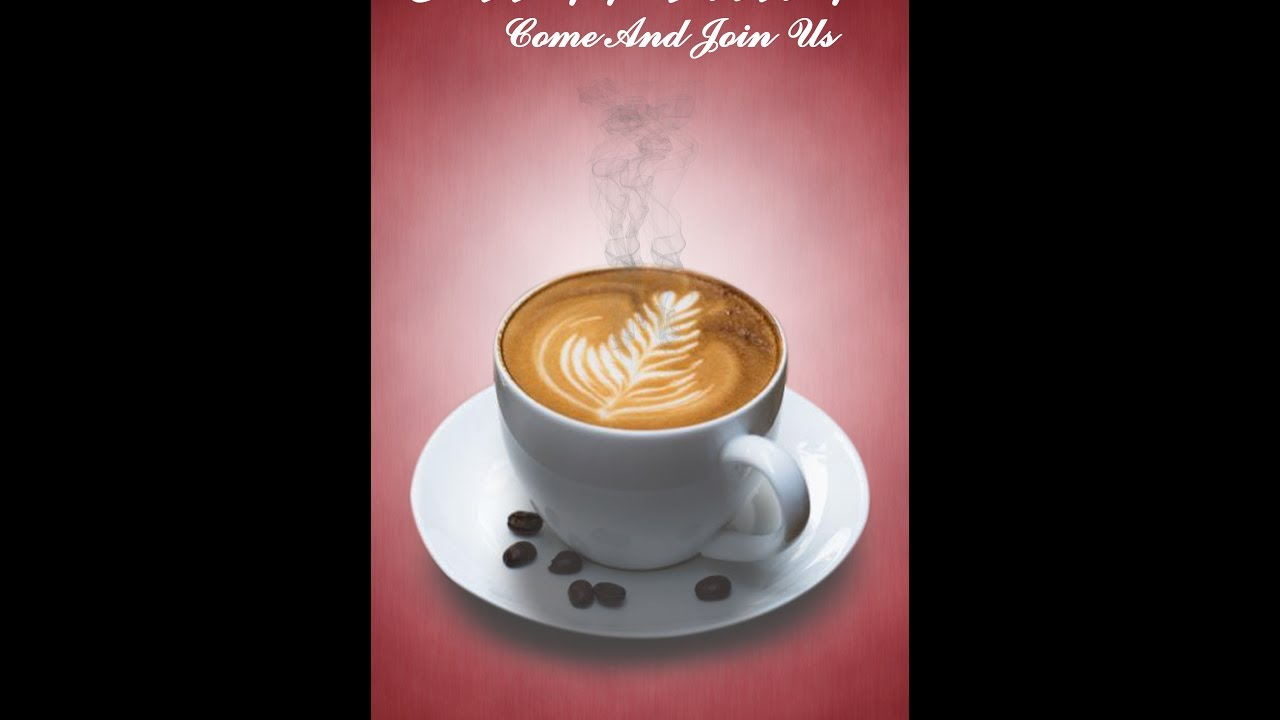 Coffee poster Design in photoshop - YouTube