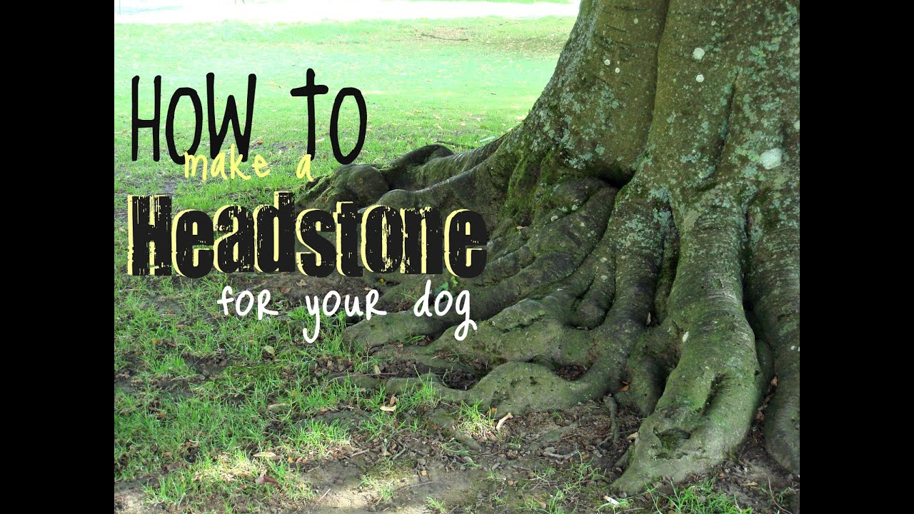 How To Make A Headstone For Your Dog