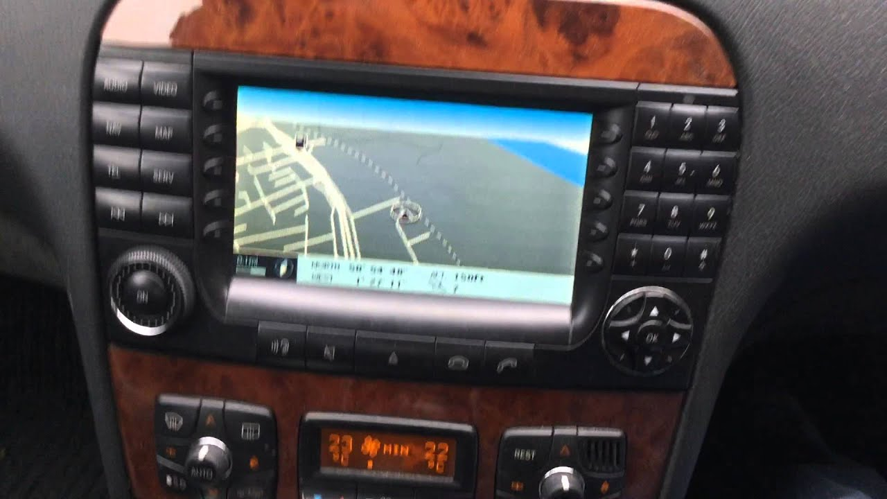 Mercedes W220 S Class S320 Cdi Comand Sat Nav Stereo User