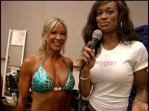 Alicia Marie backstage at Fitness New York Pageant