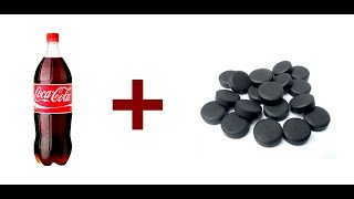 В колу добавил активированный уголь / The cola cola added activated carbon