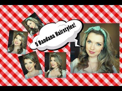 Солоха для волос ♥ 5 причесок с гибкой повязкой в стиле pin-up ♥ Bandana hairstyles