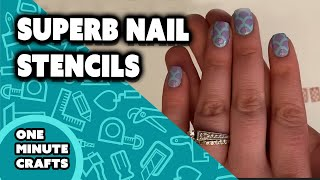 SUPERB NAIL STENCILS - One Minute Crafts