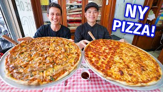 New York Pizza!! 🍕 18 Inches Pepperoni Cheese NYC Style Pizza!!