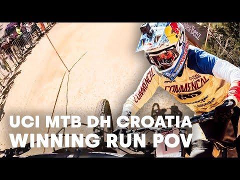 UCI MTB 2018:Myriam Nicole'scharged POV winning run.
