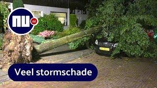 Compilatie: Zware onweersbuien trekken over Nederland | NU.nl