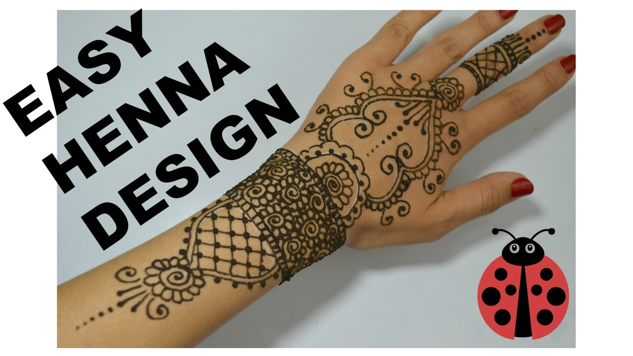 Henna Tattoo Tutorial : Easy henna tattoo tutorial youtube