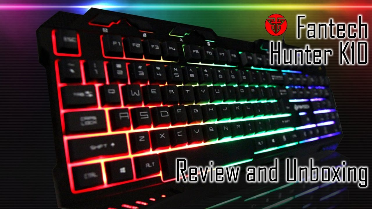 01bc9e9f29d Fantech Hunter K10 $17 LED Gaming Keyboard Review & Unboxing - YouTube
