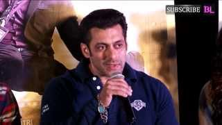 Salman Khan at trailer launch of the film 'O Teri'