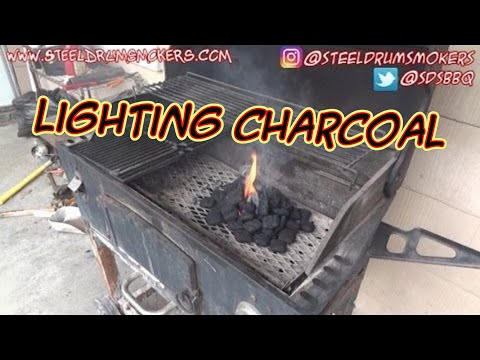 Sdsbbq How To Light Charcoal Without Lighter Fluid Or A Chimney
