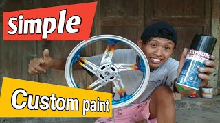 Ngecat velg tanpa kompresor bisa // simple paint rims //sapporo spray // PONDOH CUSTOM