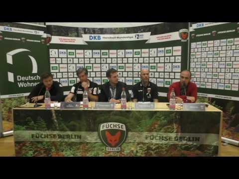 Pressekonferenz zum Spiel Füchse Berlin - HBW Balingen-Weilstetten