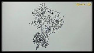 valentine valentines easy drawings draw flowers pretty special