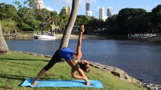 Wide forward bend with a twist (Parivrrta Prasarita Padottanasana)
