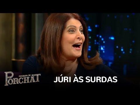 Porchat desafia o senso crítico de Sonia Lima no Júri às Surdas